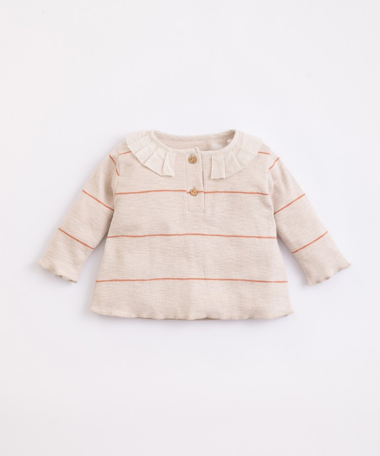 T-Shirt in cotone organico a righe