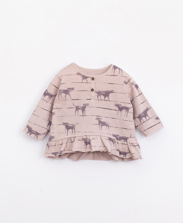 T-Shirt di maglina con stampa | Illustration