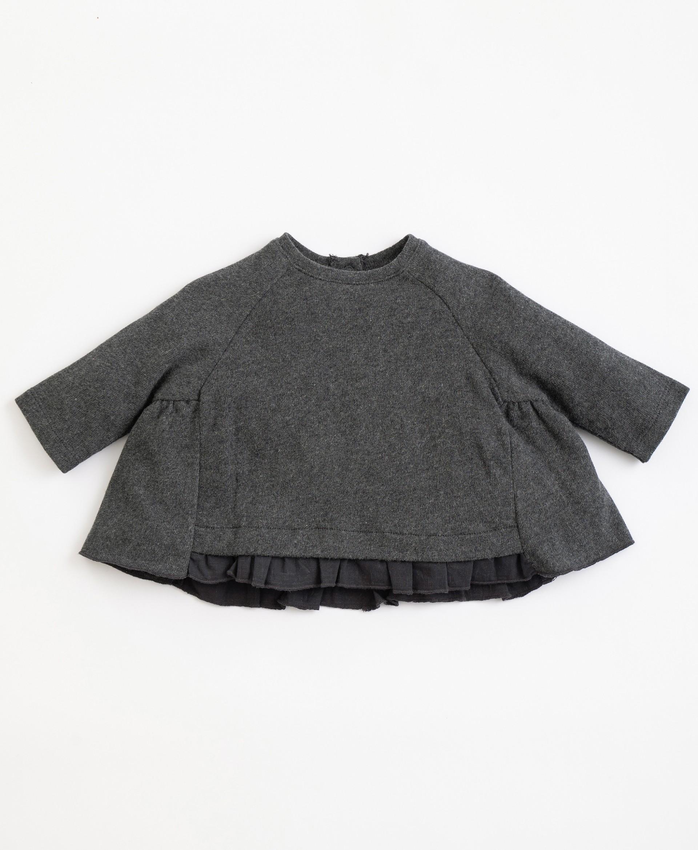 Camisola em algodão orgânico com abertura | Illustration