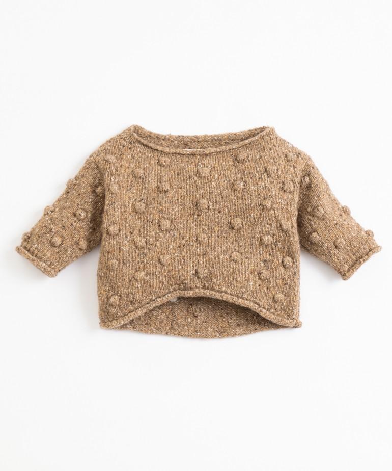 Jersey tricotado con la espalda más larga