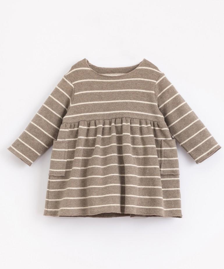 Vestido de algodón orgánico de rayas