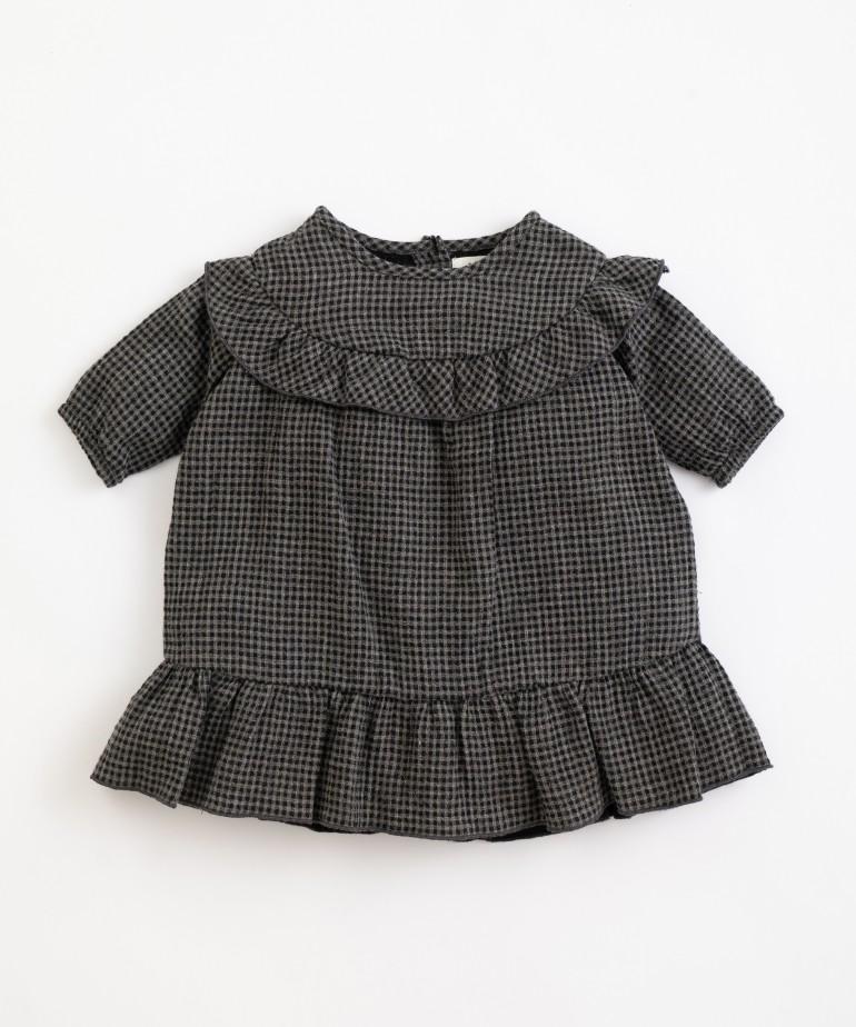 Vestido em algodão com padrão vichy
