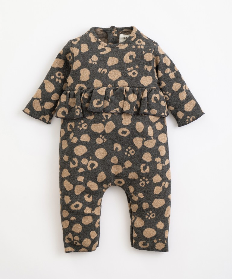 Organic cotton jumpsuit with pattern