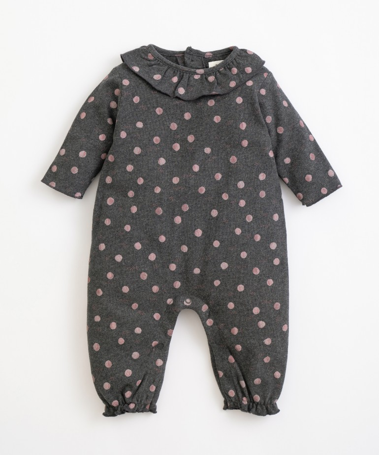Organic cotton jumpsuit with moons print