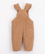 Corduroy dungarees with straps | Illustration