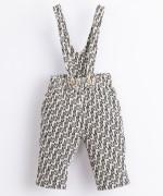 Pantaloni in cotone con bretella fissa | Illustration
