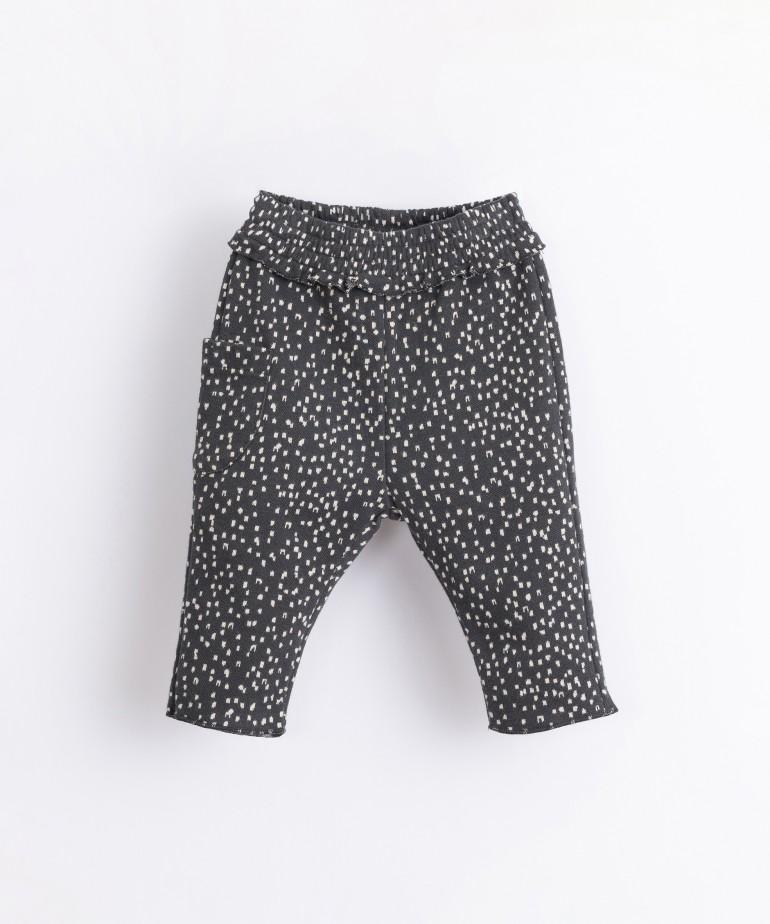 Pantaloni in cotone biologico con tasca laterale