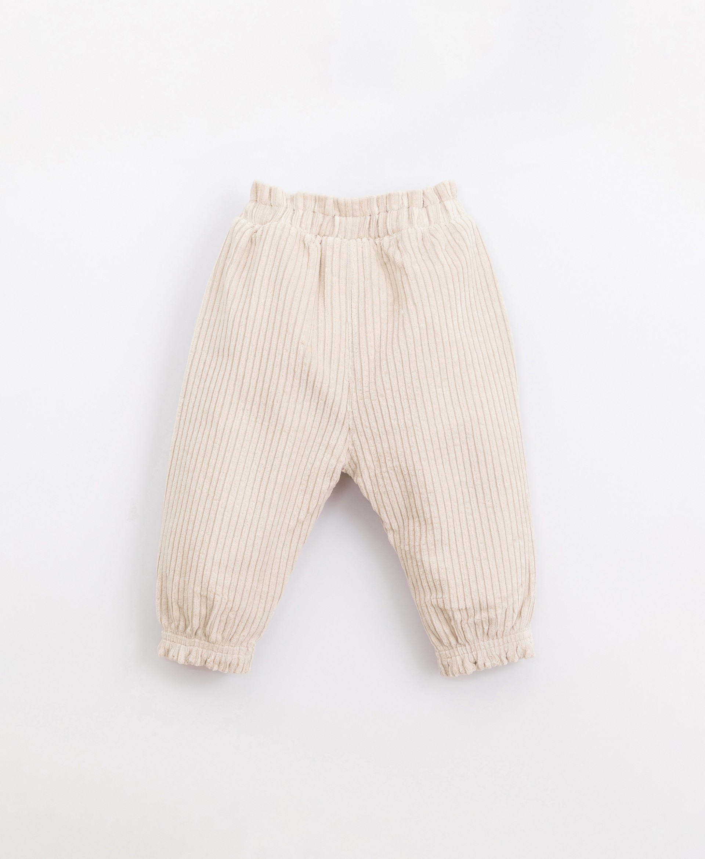 Pantaloni in bombasina con tasche finte | Illustration