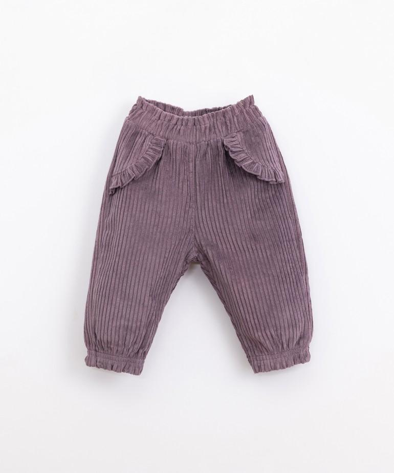 Pantalón de pana de algodón orgánico
