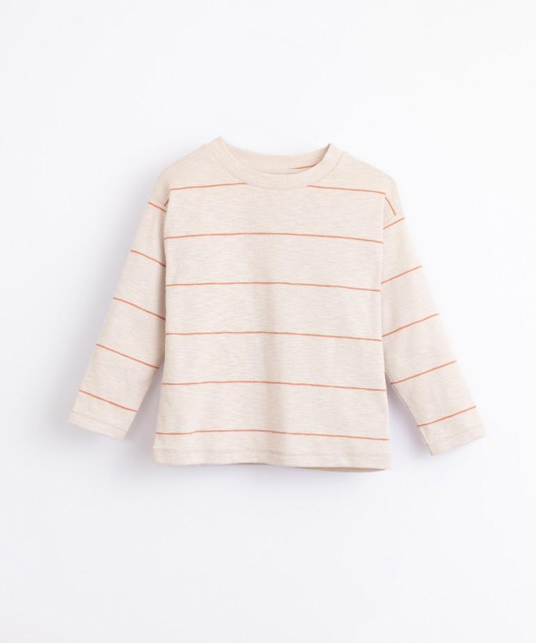 Striped, jersey stitch T-shirt