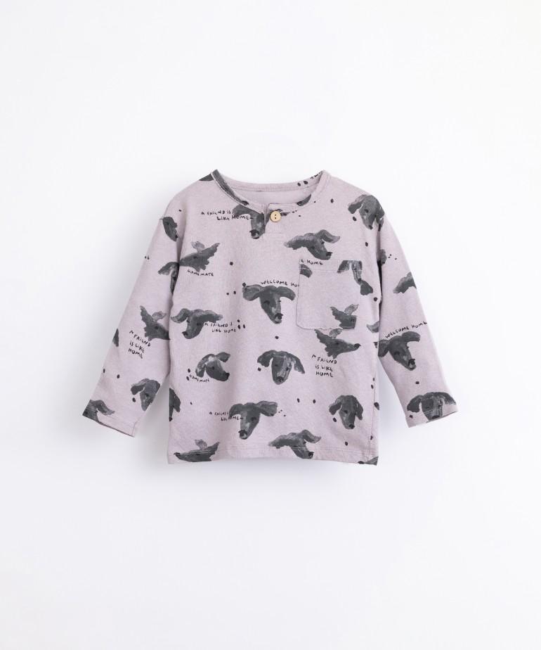 Camiseta con estampado de perros