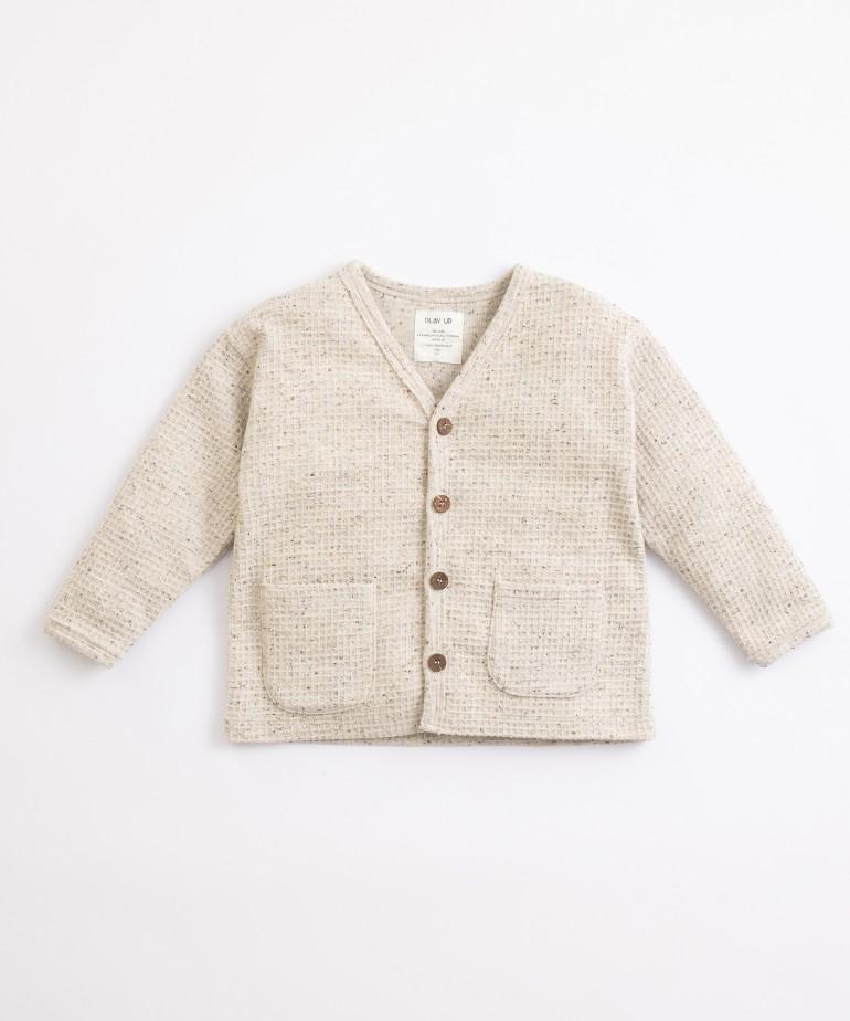 Camisa en fibras recicladas y algodón