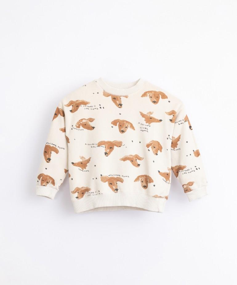 Jersey con estampado de perros