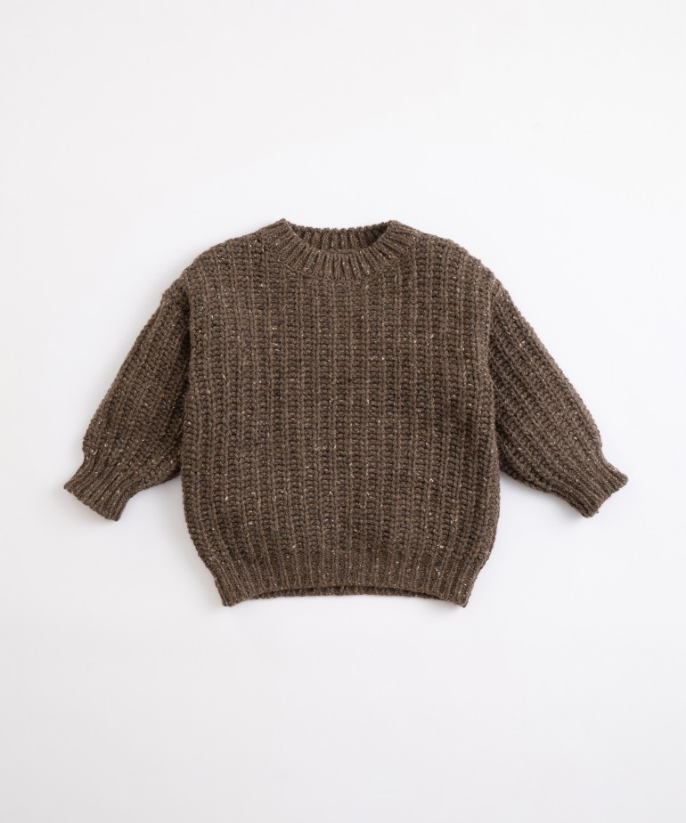 Knitted jersey with a mixture of recycled fibres
