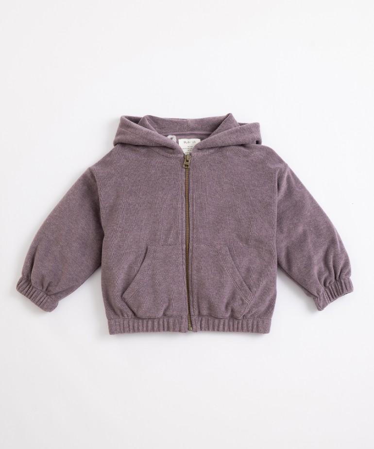 Plush jersey-stitch jacket