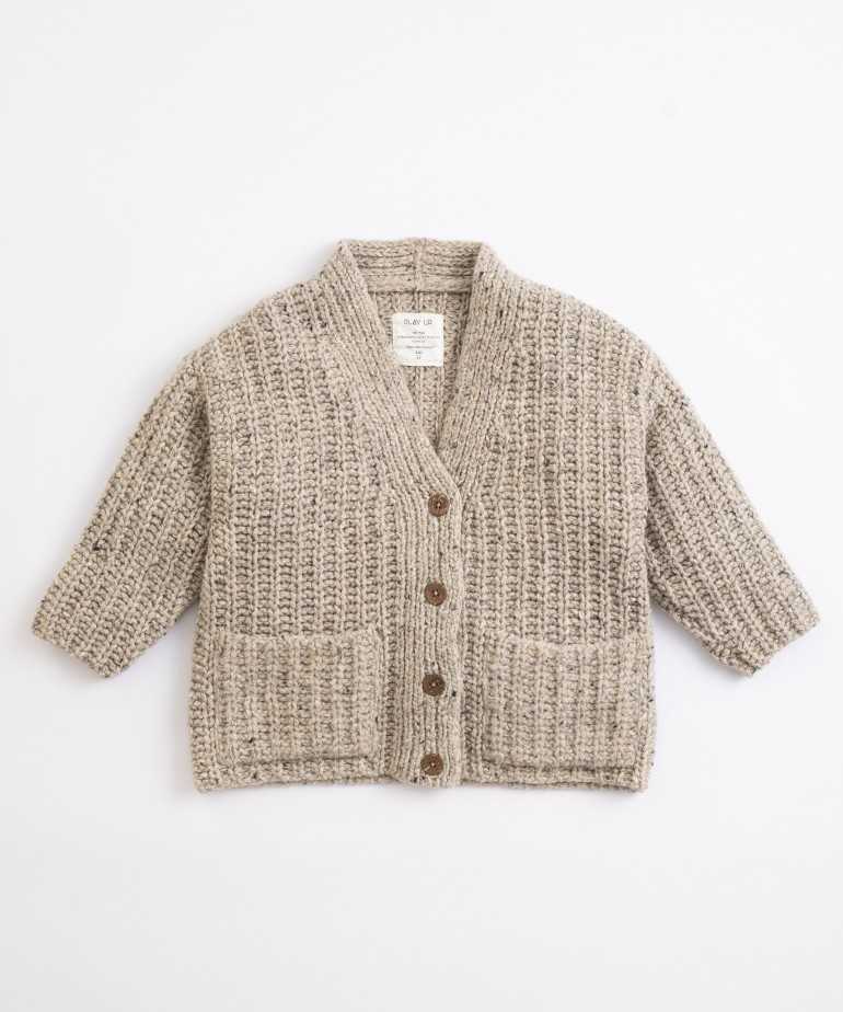 Jacket with recycled fibres and lyocell