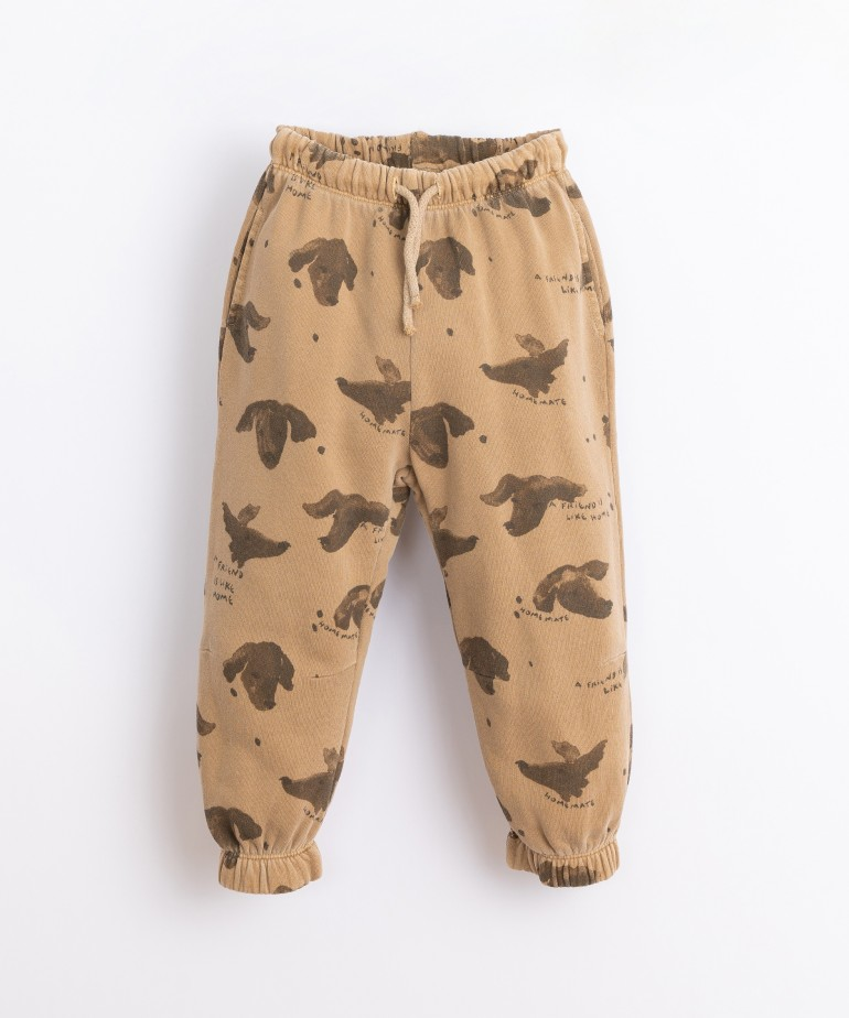 Pantalón con estampado de perros