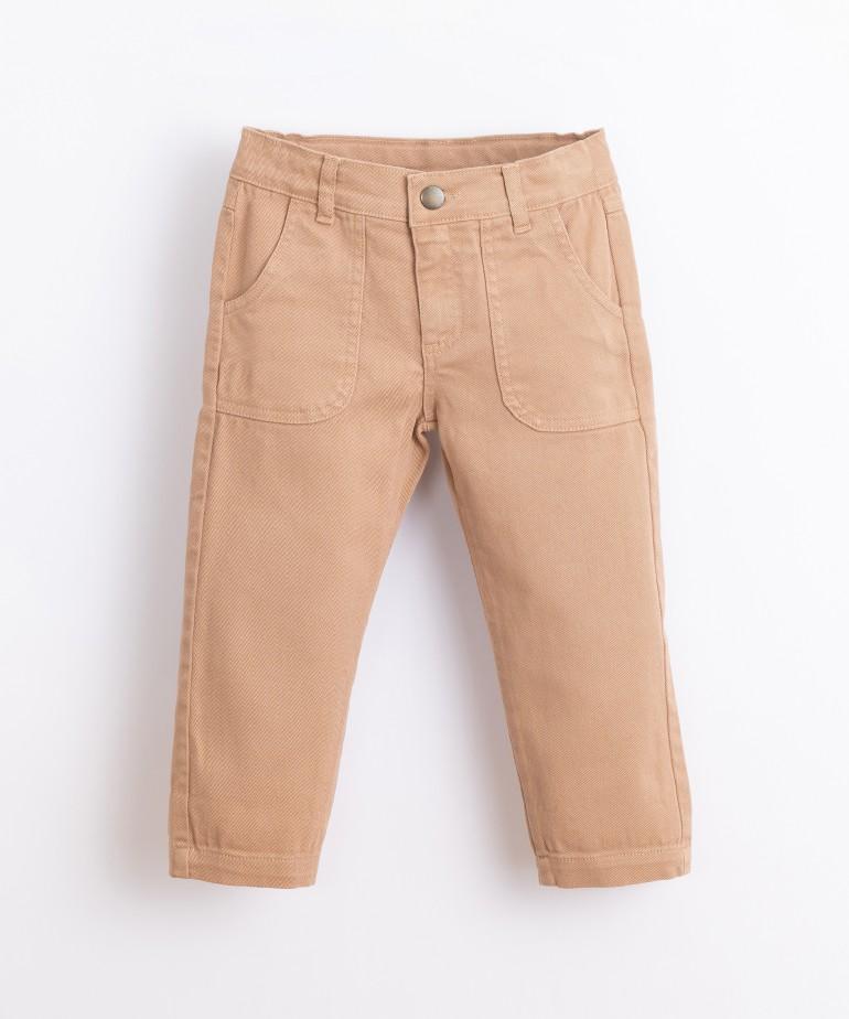 Pantalón de sarga de algodón