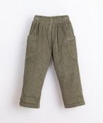 Corduroy trousers in organic cotton | Illustration
