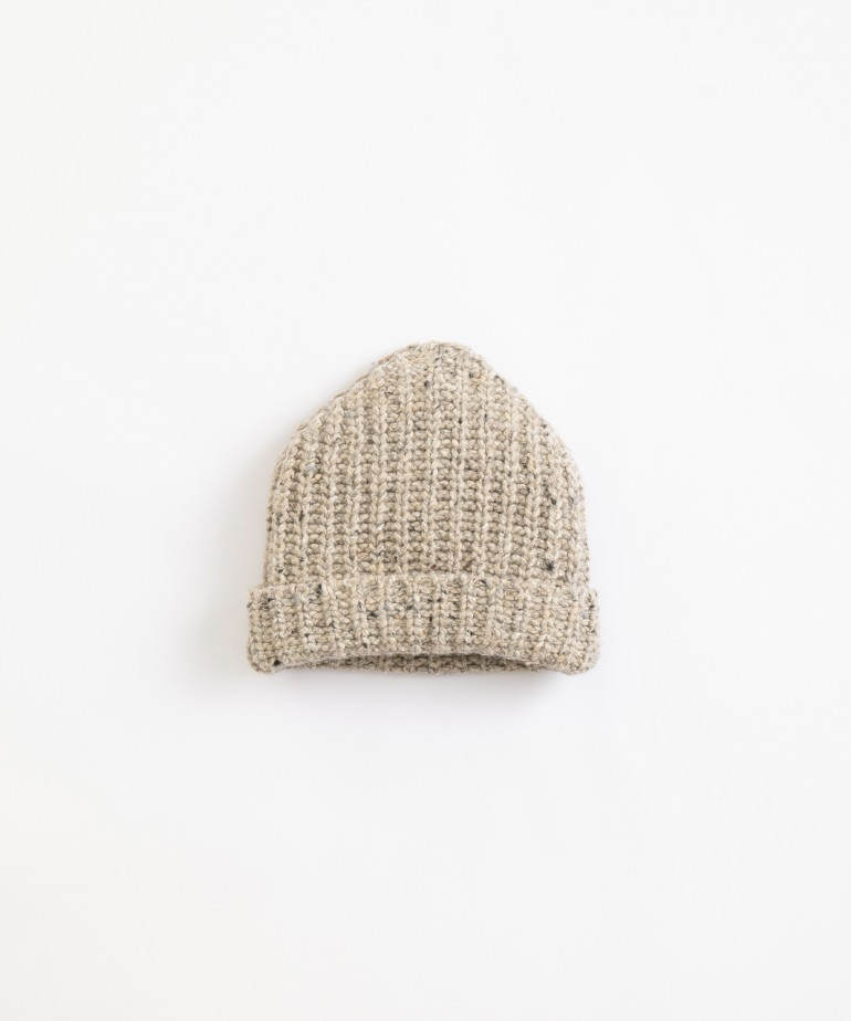Beanie in recycled fibres and lyocell