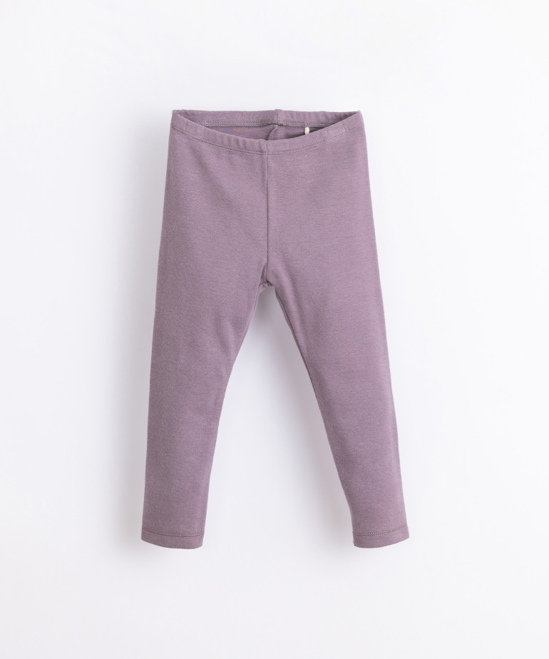 Leggings in organic cotton and recycled fibres