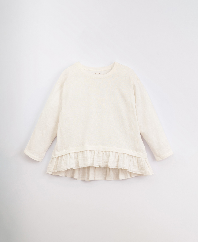 T-shirt em algodão com folho | Illustration