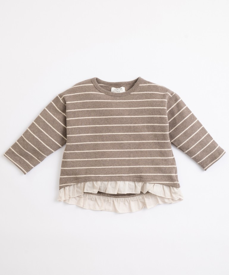 Jersey de algodón orgánico de rayas