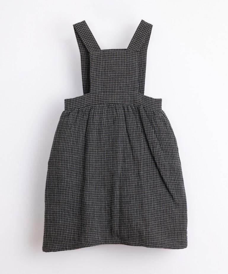 Vestido de tecido com padrão vichy
