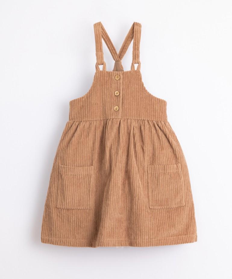 Vestido em bombazine de algodão orgânico