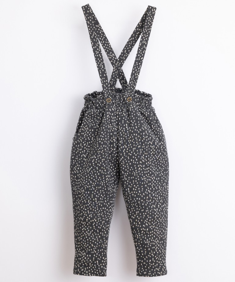 Organic cotton trousers with straps