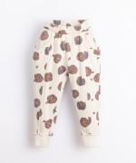 Pantaloni in cotone con stampa | Illustration