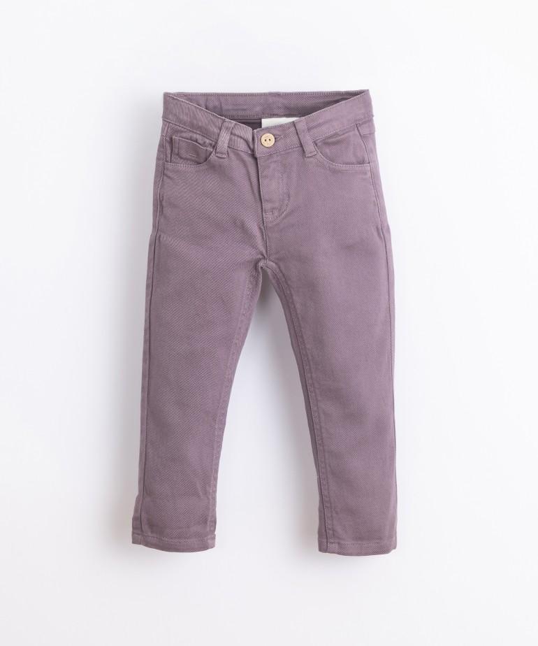 Pantaloni di twill con bottone in cocco