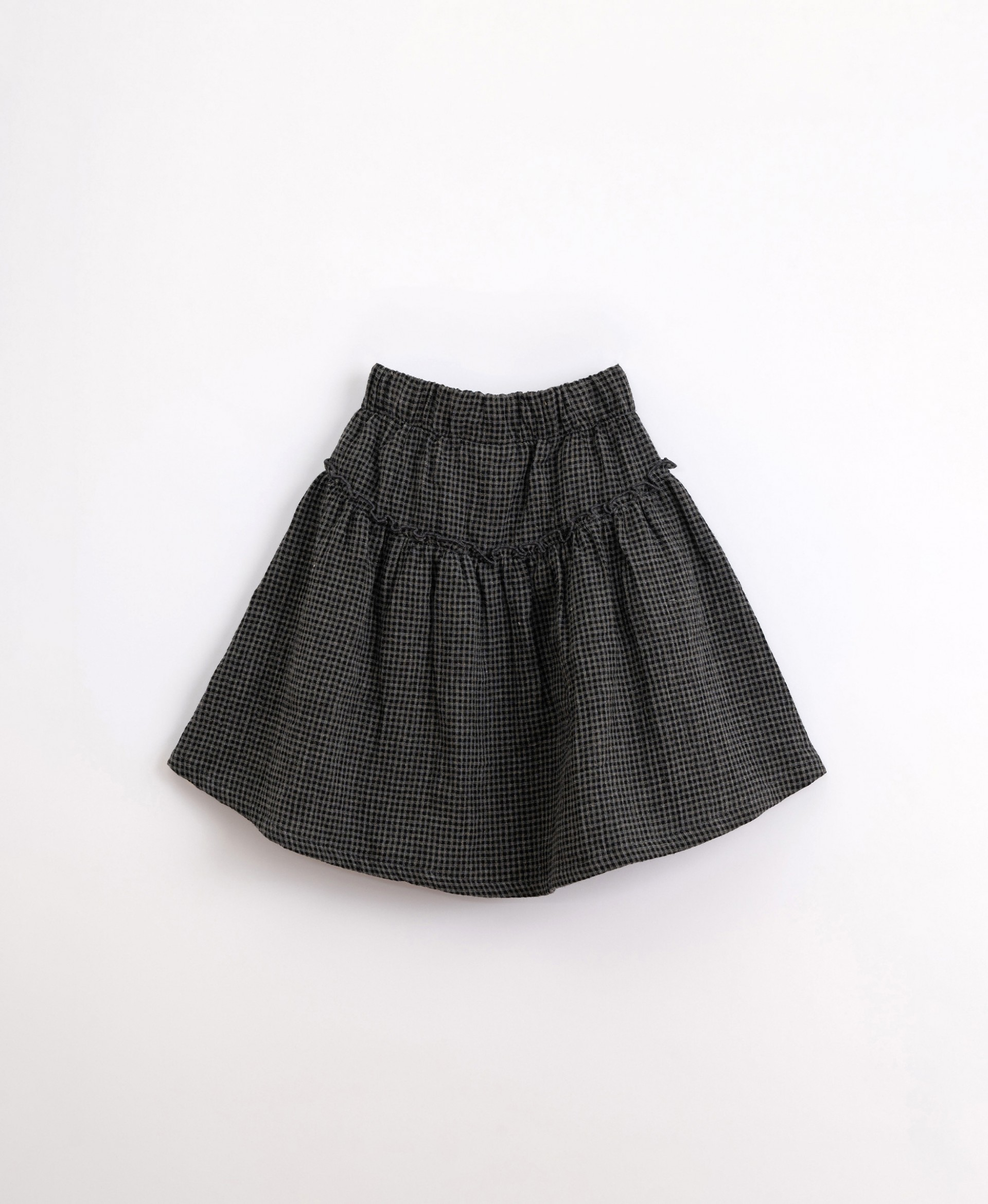 Cotton skirt with vichy pattern | Illustration