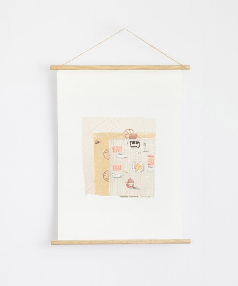 Poster con illustrazione di Violeta Cor de Rosa