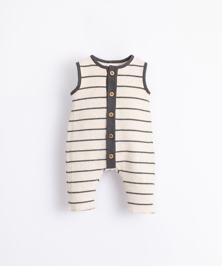 Jumpsuit in organic cotton with buttons