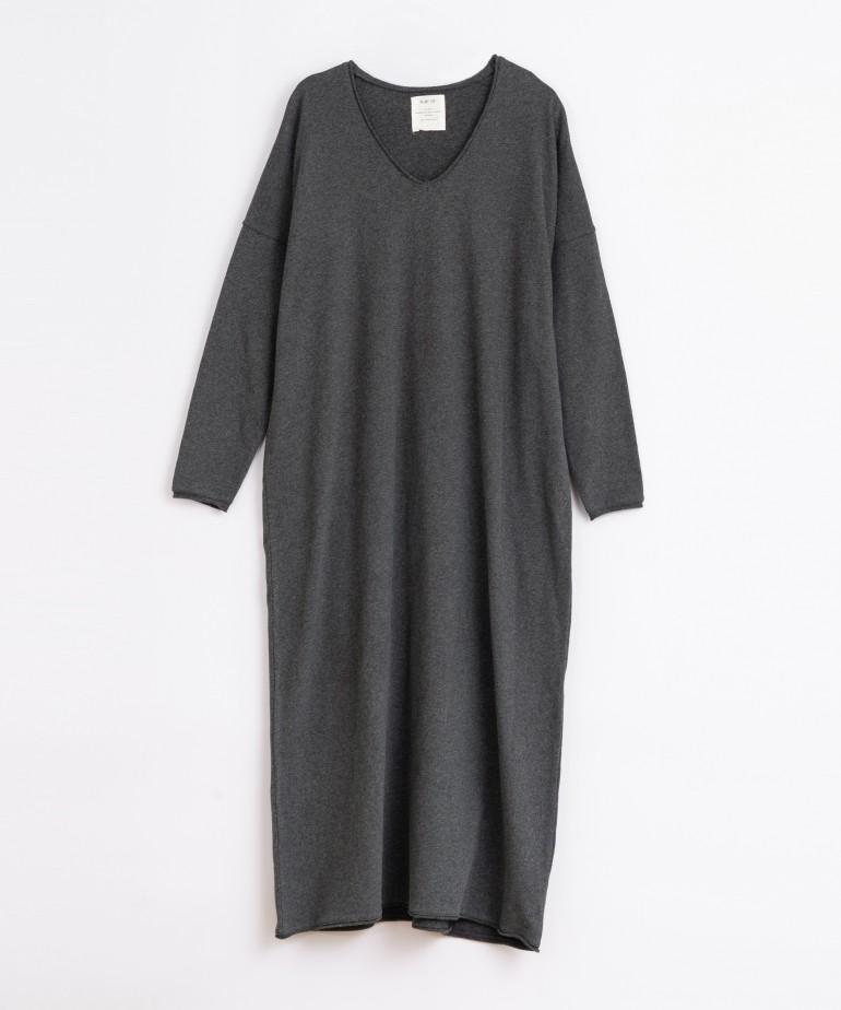 Vestido comprido em algodão orgânico