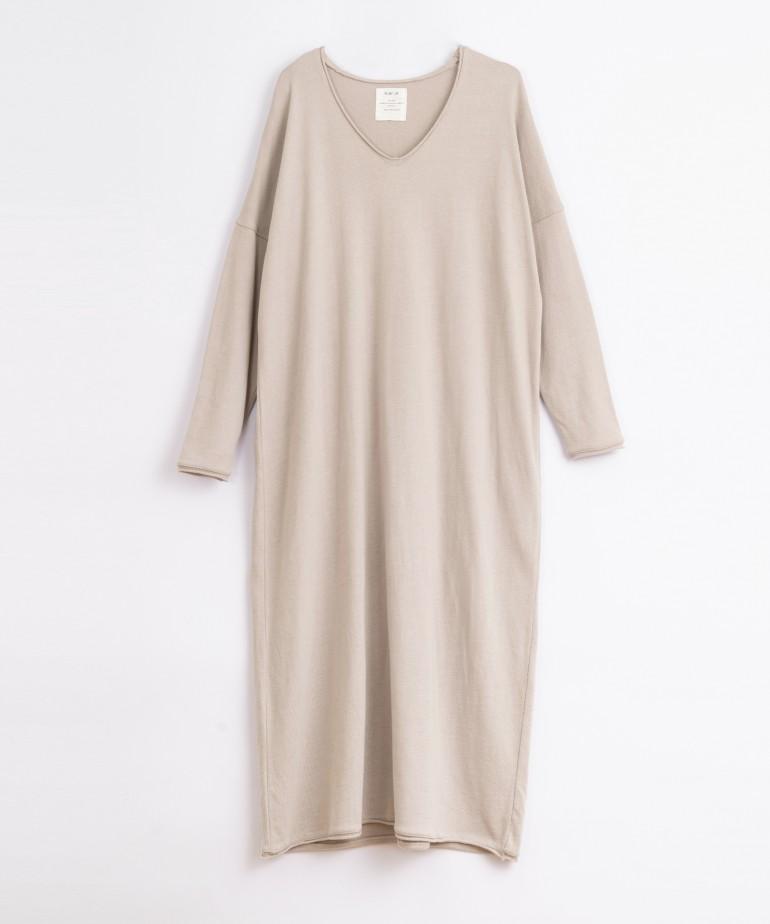 Vestito lungo in cotone organico