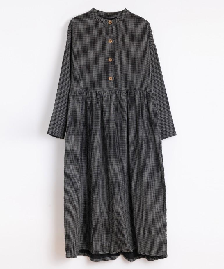 Vestito in cotone con fantasia vichy