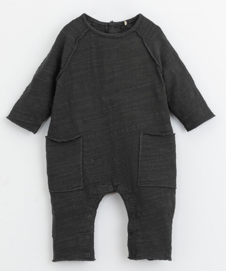 Jumpsuit with inside-out stitch detail