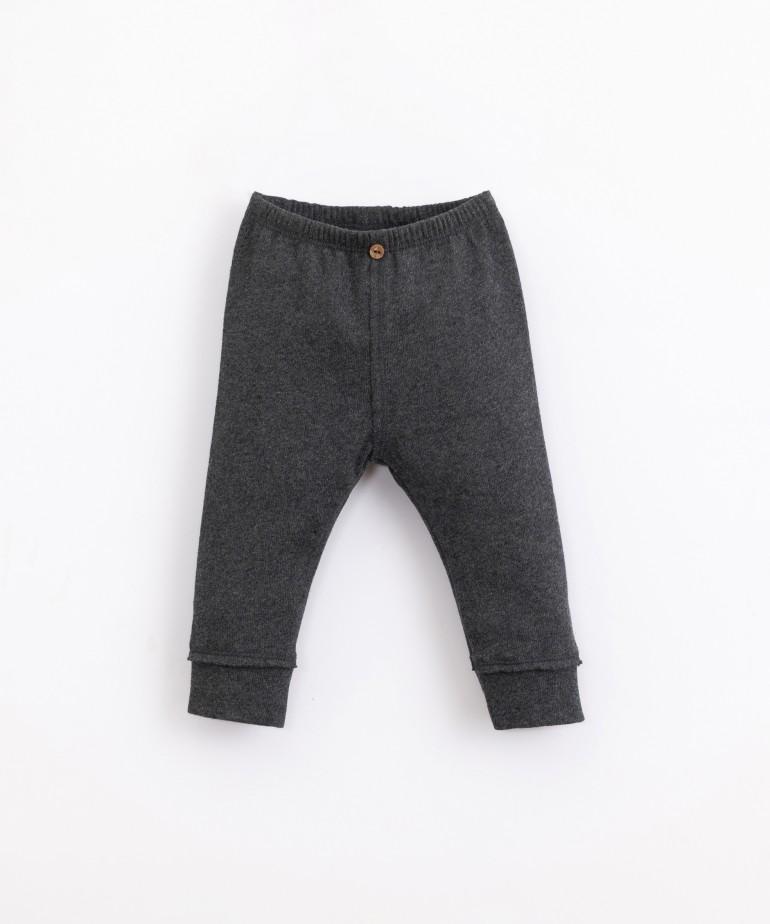 Jersey stitch leggings in organic cotton