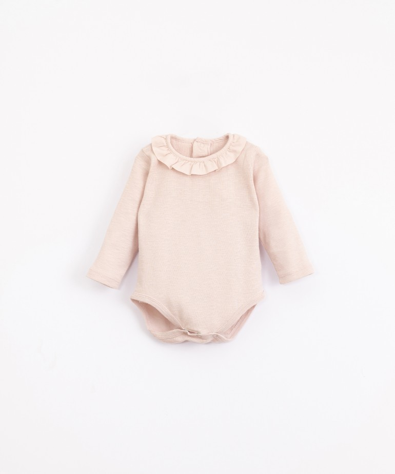 Body in organic cotton with a frill