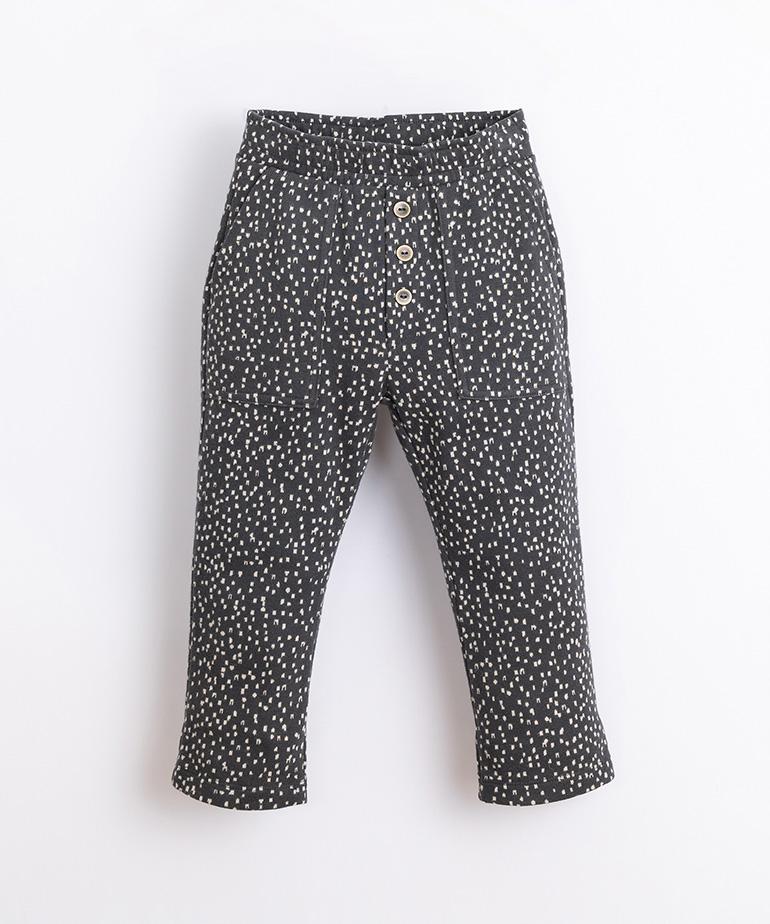 Pantalón de punto con patrón