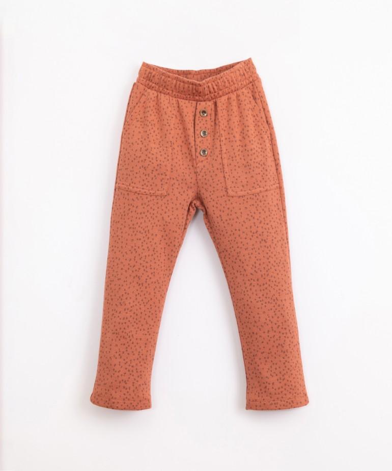 Pantaloni in maglia a fantasia