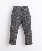 Pantalón de algodón orgánico con patrón | Illustration