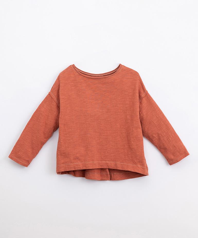 T-Shirt in cotone organico con piega