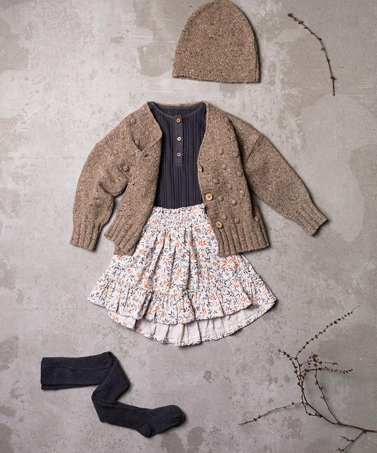 Knitted V-neck jacket