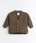 Casaco tricot com bolsos | Illustration