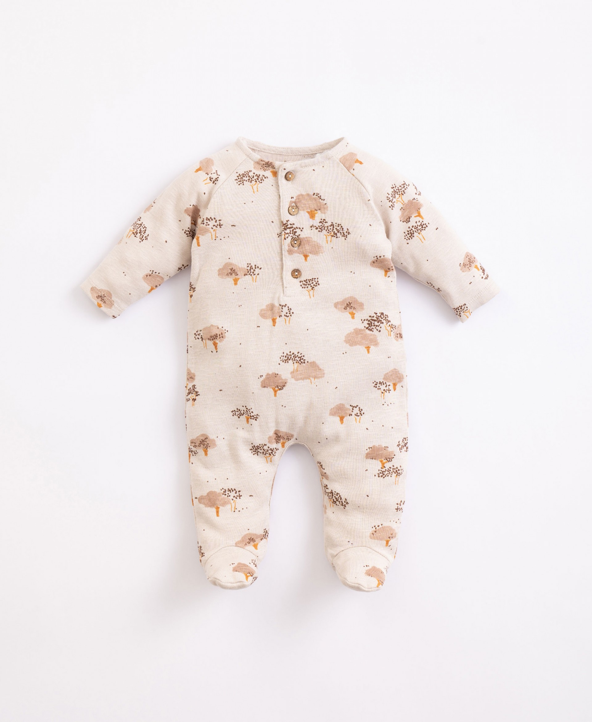 Jumpsuit in organic cotton with print  | Illustration