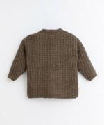 Golfino lavorato a maglia con tasche | Illustration