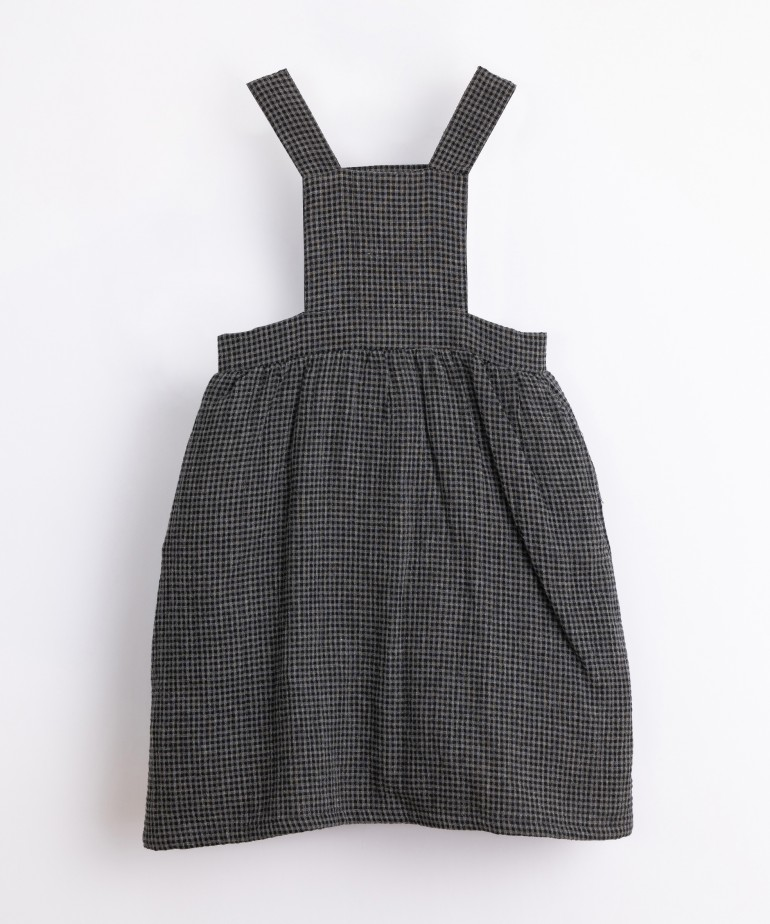 Woven dress with vichy pattern